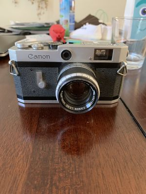Canon P rangefinder analog film camera 50mm f1.8 lens ltm m39 screw mount for Sale in Anaheim, CA