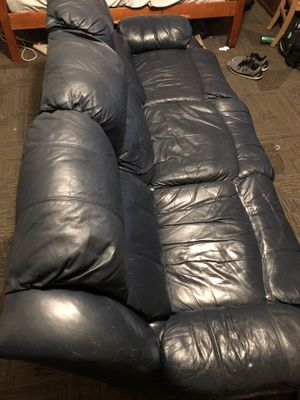 Leather couch for Sale in Sterling, KS
