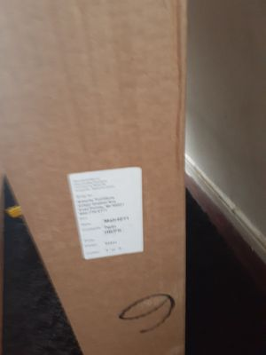 Brand new basic Mahogany Wood (not) assembled bunk bed with mattresses for Sale in Detroit, MI