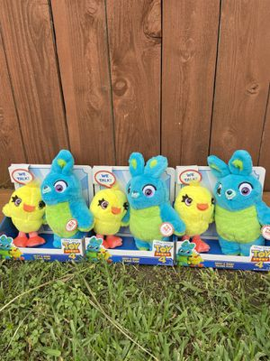 Toy Story 4 Talking Ducky & Bunny (3) for Sale in Houston, TX