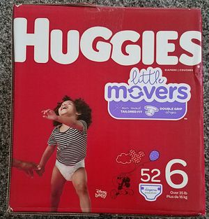 Huggies Size 6 Little Movers Box Diapers for Sale in Salt Lake City, UT