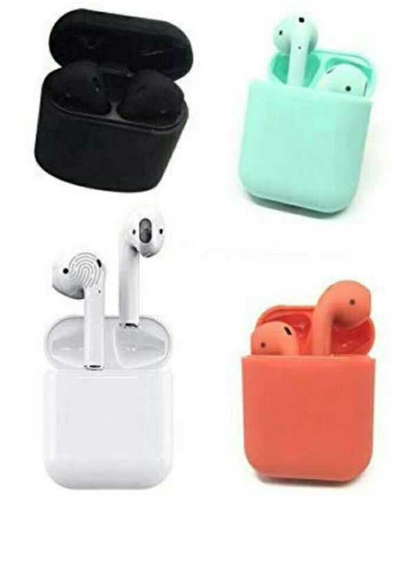 1 Box of i12 Red w1 chip & Touch Control New Wireless Earbuds, Charging Case and Charger for Airpods Compatible with Android and Apple