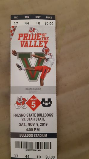Fresno State ticket for todays game for Sale in Fresno, CA