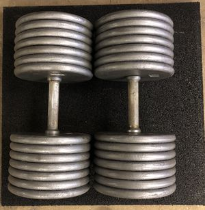 140 lbs Pro-style dumbbells for Sale in Pittsburgh, PA