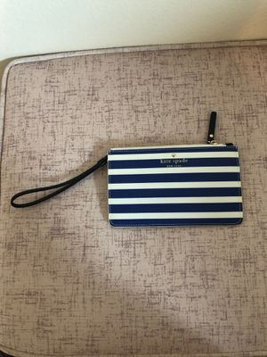 Kate Spade Wallet white and blue stripes for Sale in San Diego, CA
