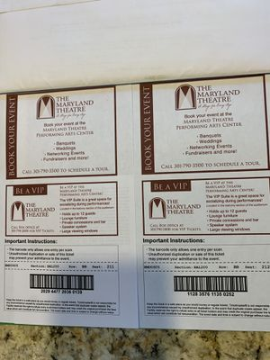 Tickets for Sale in Martinsburg, WV