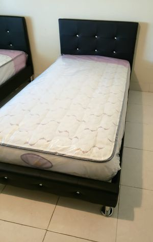NEW TWIN MATTRESS & BOX SPRING SET 2PC, BED FRAME IS NOT INCLUDED for Sale in West Palm Beach, FL
