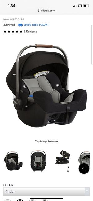 Nuna car seat and base for Sale in TX, US