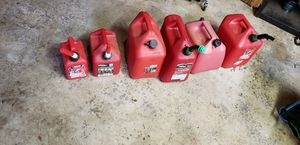 Misc Gas Cans (Lot of 6 pcs) for Sale in Woodinville, WA