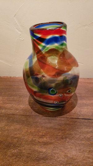 Colorful glass vase for Sale in Richmond, CA