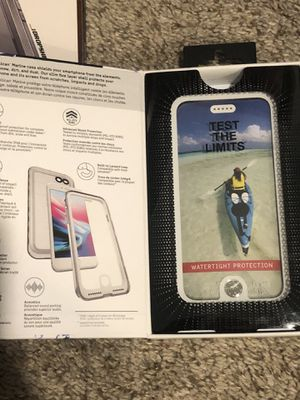 Pelican Marine Waterproof iPhone 6, 6S, SE, 7, 8 Case (White/Clear) for Sale in Chardon, OH