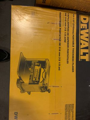 """Dewalt portable thickness planer 12-1/2"""" for Sale in University Place, WA"""
