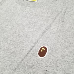 BAPE Silicon Ape Head One Point Tee Grey for Sale in Chicago, IL