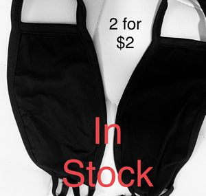 Fabric / Cloth / Face Mask (black & navy blue) for Sale in San Diego, CA