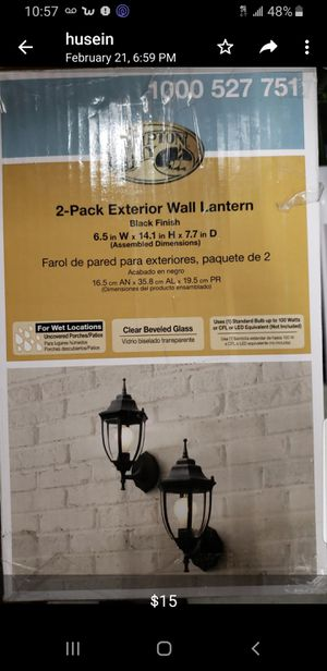 2 pack exterior wall lantern for Sale in Bakersfield, CA
