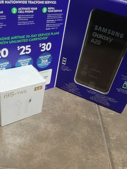 Samsung A20 & BT Earpods - Tracfone (No Contract) for Sale in Las Vegas,  NV