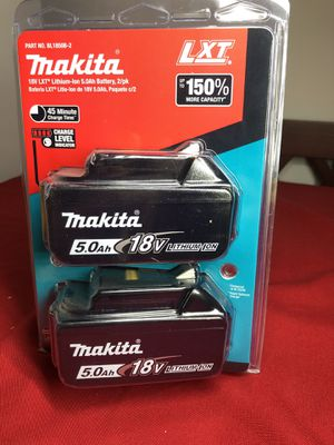 Makita 18-Volt LXT Lithium-Ion High Capacity Battery Pack 5.0 Ah with LED Charge Level Indicator (2-Pack for Sale in Anaheim, CA