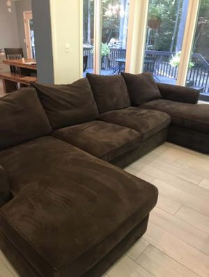 Extra Large U-Shape Sectional Sofa (brown) for Sale in Duluth, GA