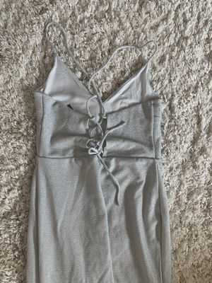 H&M silver prom/wedding/evening dress gown size small s for Sale in Houston, TX