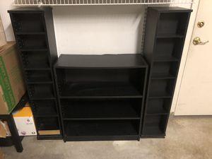 Black furniture - bookcase and media units for Sale in Rancho Cordova, CA