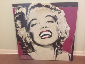 "NEW Abstract Art Canvas Painting Marilyn Monroe signed by artist 39.5"" x 39.5"" $60 OBO for Sale in Lakeland, FL"