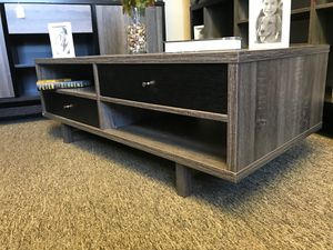 CMC Coffee Table / Center Table, Distressed Grey and Black for Sale in Fountain Valley, CA