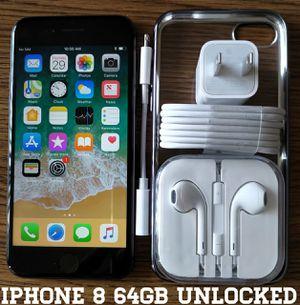 Iphone 8 (64GB) Factory-UNLOCKED + Accessories for Sale in Alexandria, VA