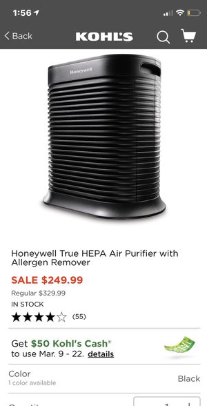 Honeywell HEPA true purifier for Sale in Casselberry, FL