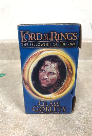 Lord of the Rings glass Goblets collection for Sale in Stickney, IL