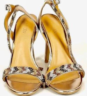 "Gorgeous Gold Sparkly Strappy High Heels, Size 8.5 Nordstrom's ""Abound"" Brand for Sale in Poway, CA"