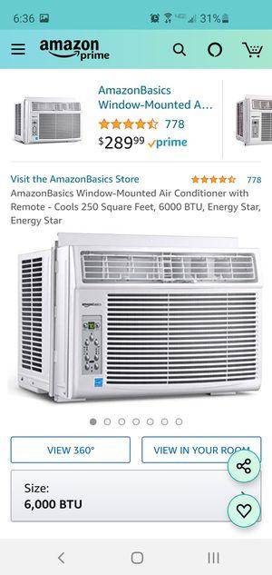 Amazon Basics Window-Mount AC 250sq ft, 6000btu - Brand New for Sale in Hilliard, OH