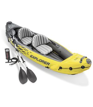 Intex Explorer K2 Kayak, 2-Person Inflatable Kayak Set with Aluminum Oars and High Output Air Pump for Sale in Issaquah, WA