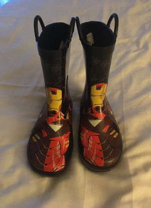 Rain boots Iron man (size 13/1) for Sale in Chicago, IL