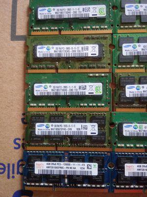 Used PC3 (1.5V) SODIMM laptop memories for Sale in Dallas, TX
