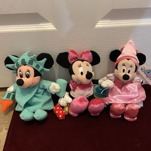 Minnie Mouse Plush - All 3 Sold Together - New for Sale in Chula Vista, CA