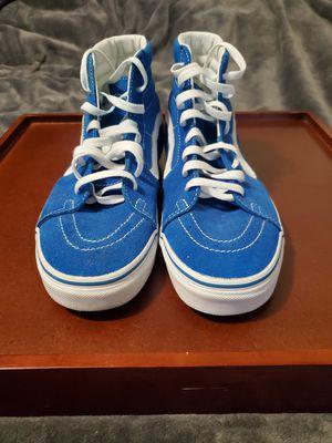 Sz 9.0 VANS- Pig Suede SK8-HI (blue) for Sale in Bloomfield, NJ