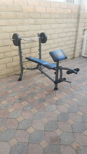 Weight bench/EZ bar/30lb weights for Sale in Los Angeles, CA