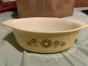 Vintage Pyrex gold flower casserole for Sale in Houston, TX