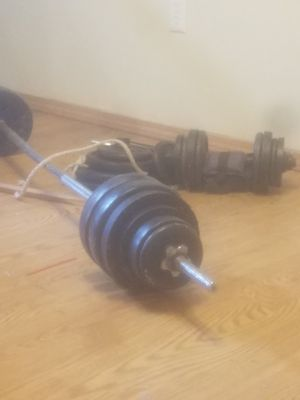 Free weights, 160+ lbs for Sale in Butte, MT