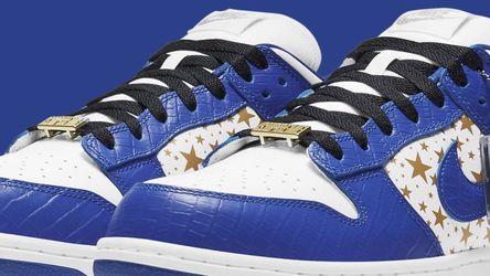 Supreme Nike Sb Dunk Low Blue Size 9 Order Confirmed for Sale in Fullerton,  CA