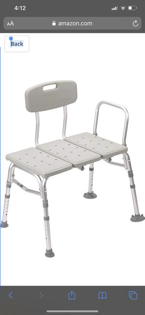 Drive Medical Plastic Tub Transfer Bench with Adjustable Backrest for Sale in Chino, CA