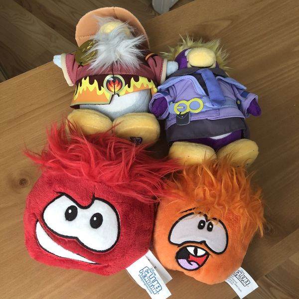 4 stuffed animals club penguin Disney