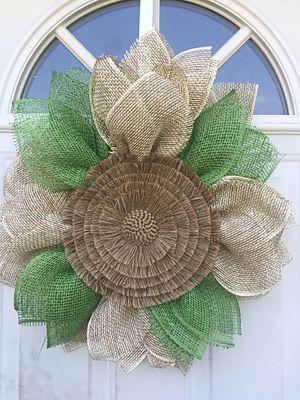 Burlap Sunflower Wreath for Sale in Inwood, WV