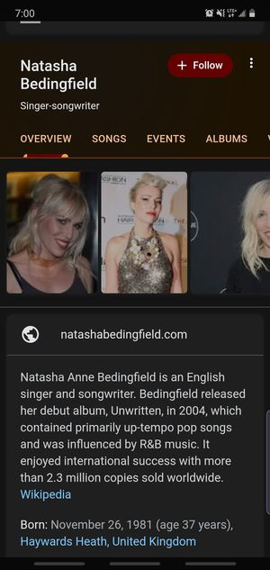 natasha bedingfield10/21 park west for Sale in Chicago, IL