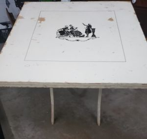 Antique Folding Card Table for Sale in Roselle, IL