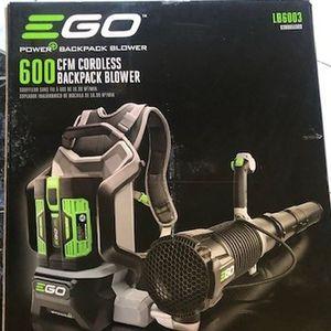 Ego Power+ 600 CFM 145MPH 56V Cordless Backpack Blower LB6003 for Sale in Philadelphia, PA