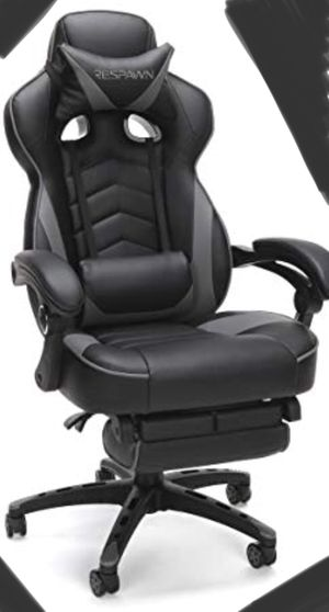 New!! Gaming chair, Task chair, rolling chair, desk chair, office chair, executive chair, office furniture , gray ( small tear inside arm) for Sale in Phoenix, AZ