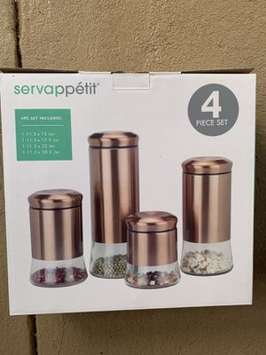 Servappetit glass kitchen storage containers for Sale in Richmond, CA