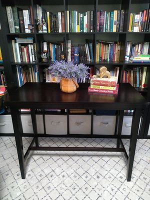 BRAND NEW Bar Pub Height Table Office Desk Ashley Furniture Dining Kitchen Tall Standing Farmhouse Midcentury Modern for Sale in Phoenix, AZ