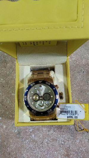Invicta model 80068 chronograph date gold face for Sale in Kirkland, WA